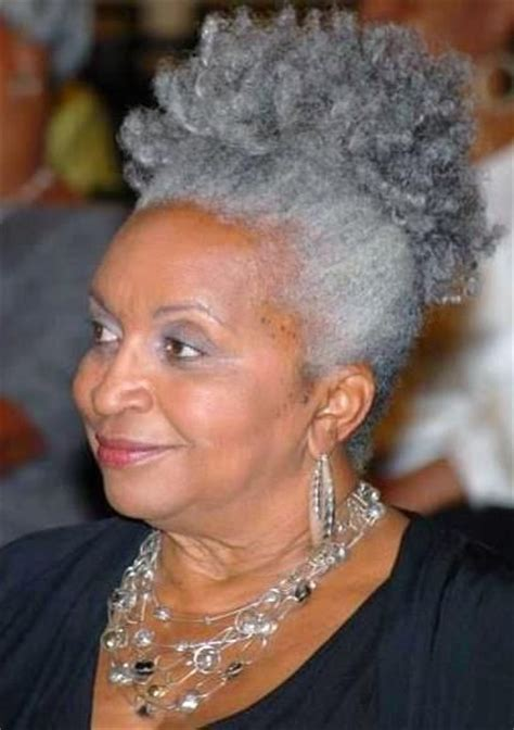 grey hair styles for african american women grey hair african american woman via candace cunningham