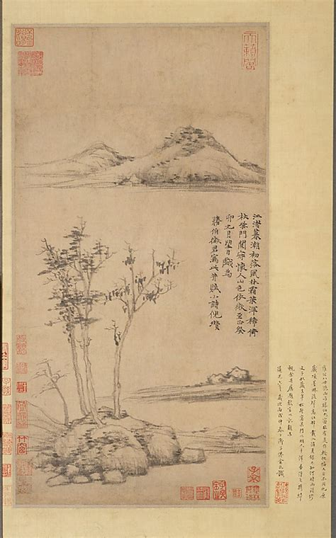 Landscape Poetry Definition Wind Among The Trees On The Riverbank By Ni Zan