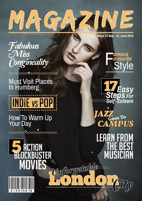 indesign template magazine cover magazine cover template indesign by javismum graphicriver