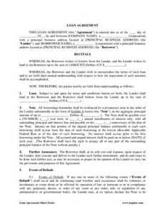 Standard Loan Agreement Template Free by Standard Loan Agreement Form Free