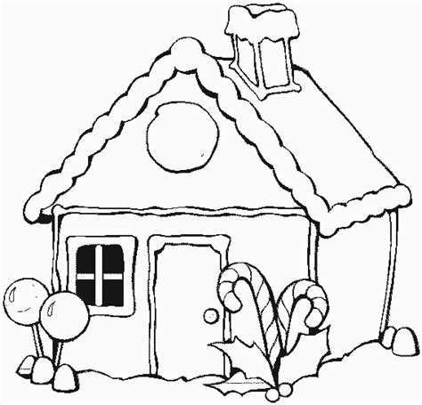 Christmas Coloring Pages Gingerbread House Gingerbread House Colouring Pages