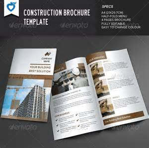 construction brochure templates 20 useful construction brochure templates