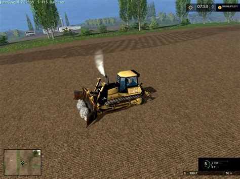 mod game farming rotech 830 bulldozer v1 0 farming simulator modification
