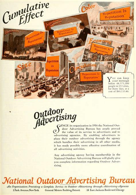 national outdoor advertising bureau 1920 caigns