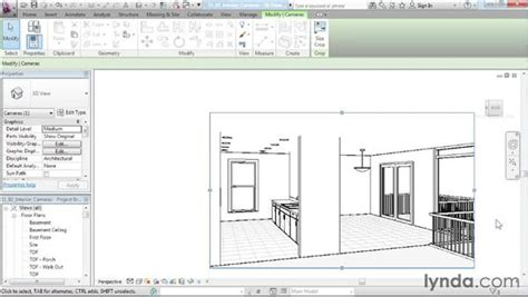 revit tutorial for interior design creating an interior camera