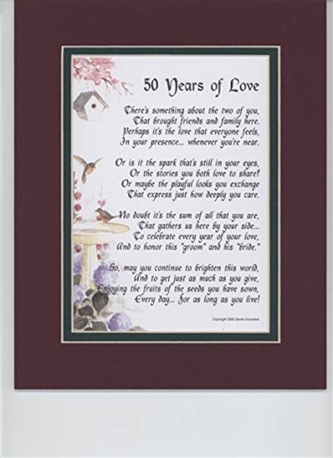 Wedding Anniversary Poems For Parents by The Best 50th Wedding Anniversary Gifts For Parents From