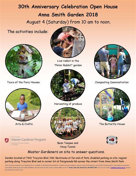 anna smith garden anniversary celebration open