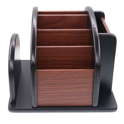 Rotating Office Wooden Desk Organizer Coideal Large Wood Revolving Desk Organizer