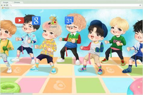 Got7 Just Right Chibi Chrome Theme   ThemeBeta