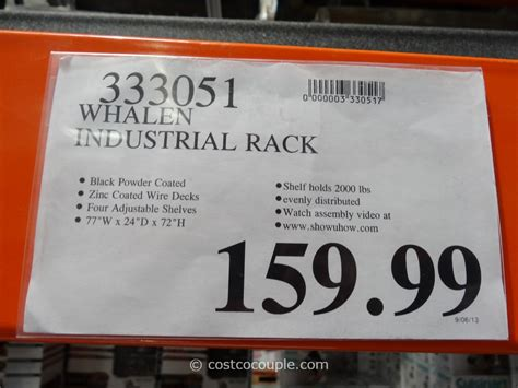 whalen industrial rack