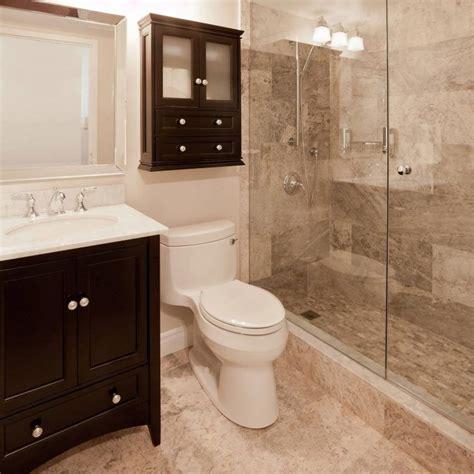 walk  shower designs  small bathrooms dark orange