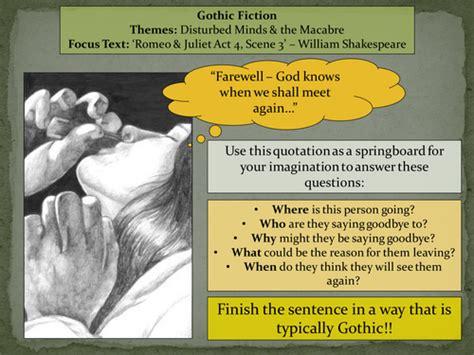 macbeth gothic themes english literature language ks3 4 5 lessons resources