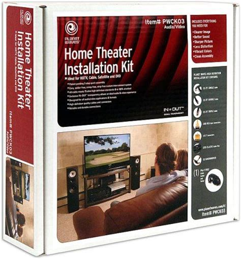 planet waves pwck03 home theater installation kit ideal
