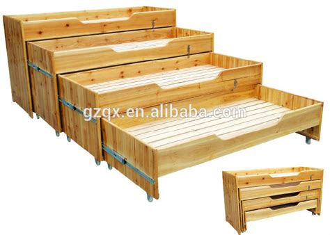folding bed for kid four layer wooden kids bed toddler bedroom furniture