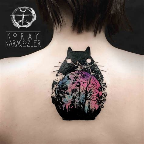 tattoo cat tree totoro by koray karag 246 zler tattoo pinterest totoro