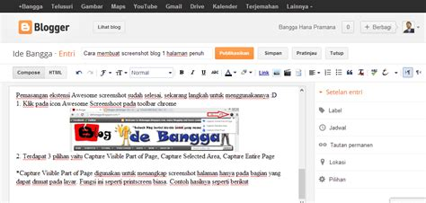 ide membuat blog cara membuat screenshot blog 1 halaman penuh ide bangga