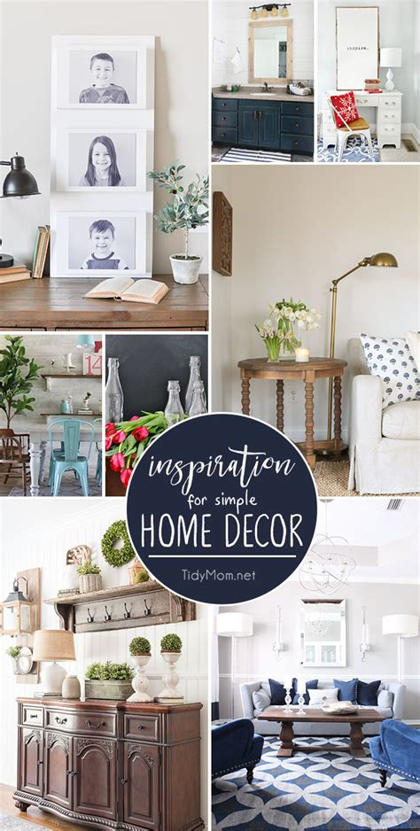 simple home decor inspiration to tidymom