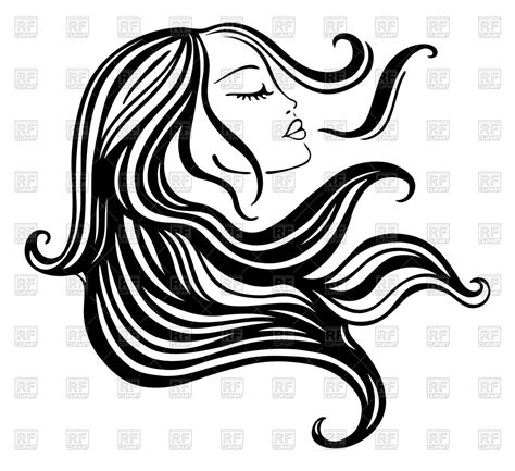 long hair free vector art 1906 free downloads girl with flowing hair vector image hot girls wallpaper