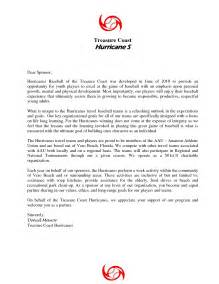 Baseball Donation Letter Youth Sle Letters