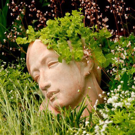 terracotta pflanzgef 228 223 frauenkopf von g 228 rtner p 246 tschke
