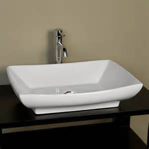 mollie rectangular porcelain vessel sink bathroom