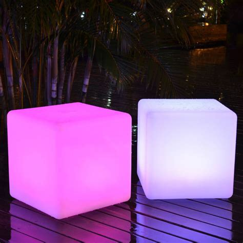 led light cube stool color changing led outdoor light cube sp 3535 super