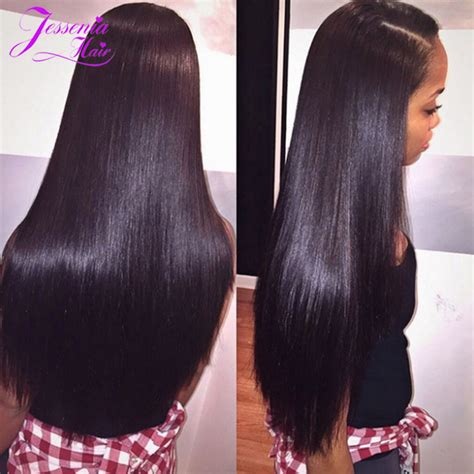 how long is the 10inch weave for black hair mink brazilian straight hair 8a 4 bundles 18 inch straight