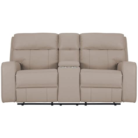 reclining loveseat with console microfiber city furniture rhett taupe microfiber power reclining