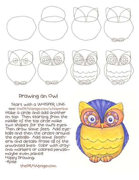 how to draw doodle owl drawing an owl