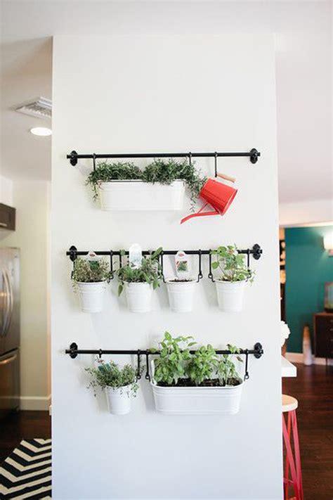 good Cheap Bathroom Decor Ideas #1: DIY-hanging-herb-garden-wall.jpg