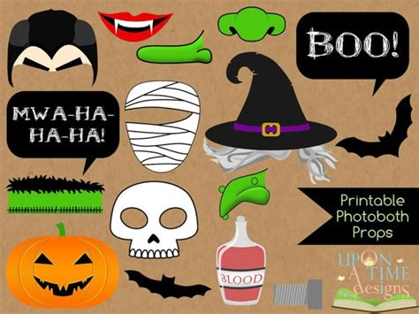 printable photo booth props for halloween instant download halloween photobooth props printable