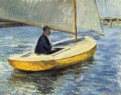 yellow boat paint the yellow boat 1891 gustave caillebotte wikiart org