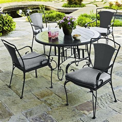 Rod Iron Patio Table And Chairs Wrought Iron Outdoor Dining Table And Chairs