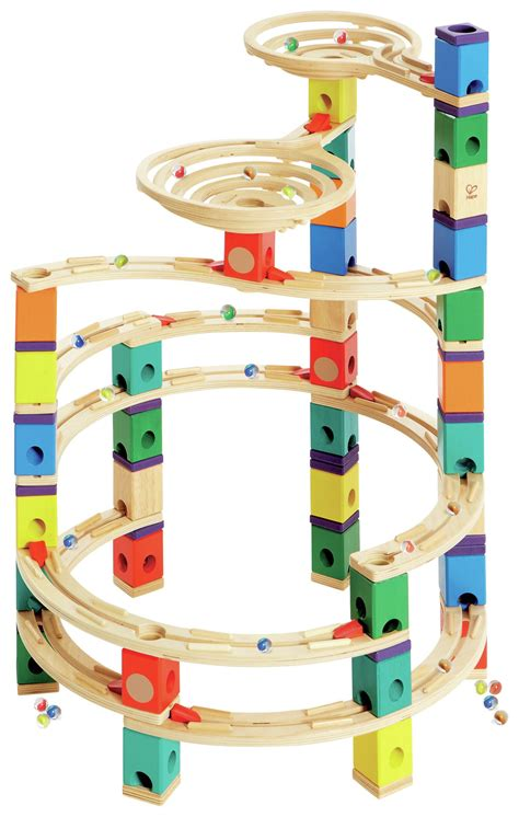 Which Hape Marble Run Quadrilla - sale on hape quadrilla wooden marble run builder cyclone