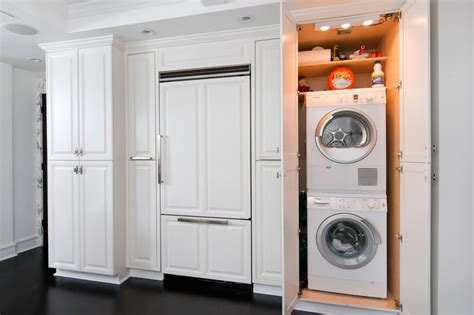 washer dryer in kitchen photos hgtv