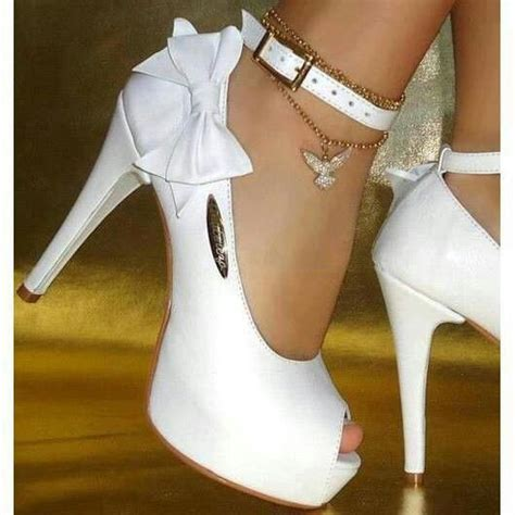 white high heels with bow white heels with ankle and bow in the future