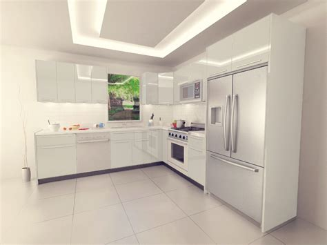 Kitchen Cabinets With No Doors white acrylic kitchen with soft close motion for only 9900