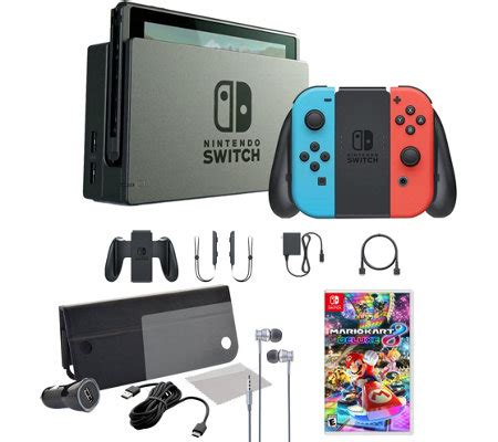 mario kart 8 console nintendo switch console with mario kart 8 and accessories