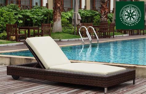 chaise longue piscine chaise longue piscine rsine tresse zoe collection design