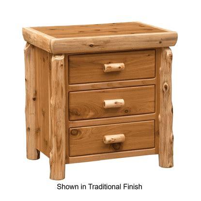Cedar Nightstand by Fireside Lodge Cedar Log Nightstand Large 3 Drawer
