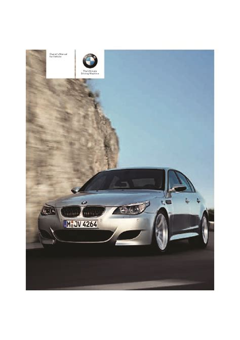 all car manuals free 2007 bmw 5 series electronic toll collection 2007 bmw 5 series m5 e60 owners manual