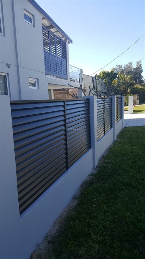 fence awning louvre fence eco awnings