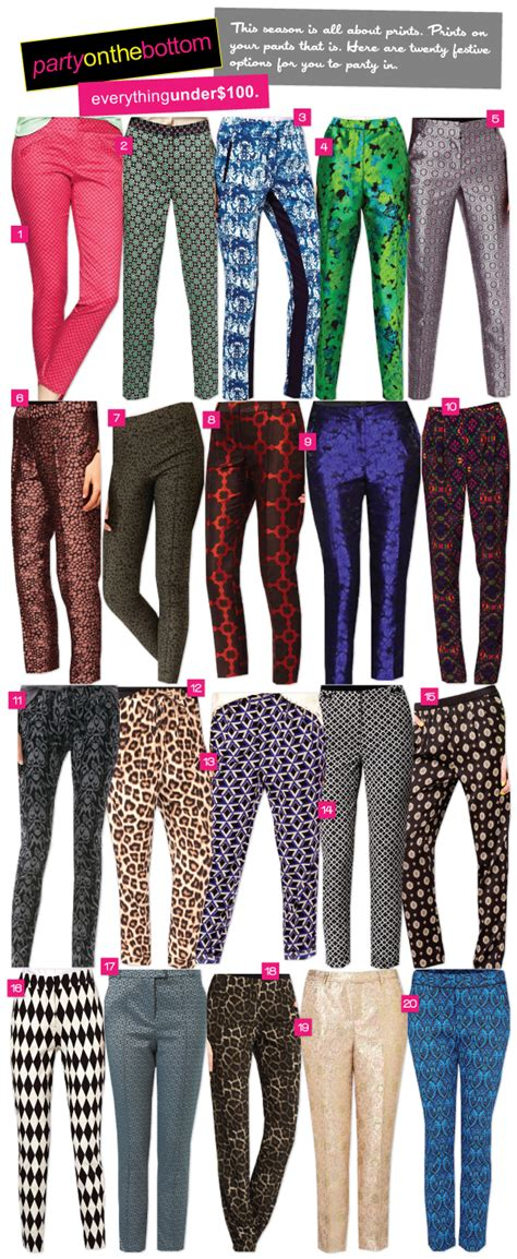 seluar lagging riches for rags style trends printed pants