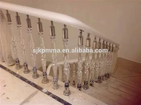 Perspex Balustrade Lucite Stair Rail Clear Plastic Handrail With Stari