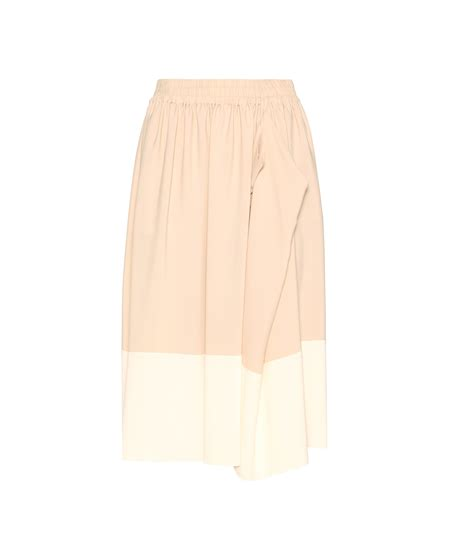 Fiore Theresa Clutch by Lyst Jil Sander Navy Color Block Silk Blend Midi Skirt