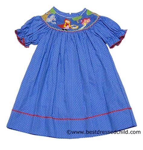 Polka Blue Bergo Busui Ay anavini blue polka dot smocked bishop dress