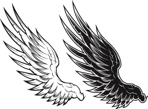 imagenes blanco y negro vectores blanco y negro de vectores alas negro y negro vector de