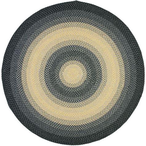 safavieh braided multi 8 ft x 8 ft safavieh braided black multi 8 ft x 8 ft area rug brd311a 8r the home depot