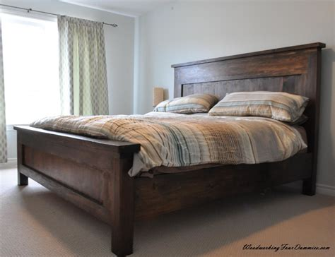 king farmhouse bed do it yourself home projects from