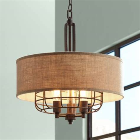 franklin iron works lighting tremont 20 quot wide rust pendant light by franklin iron works